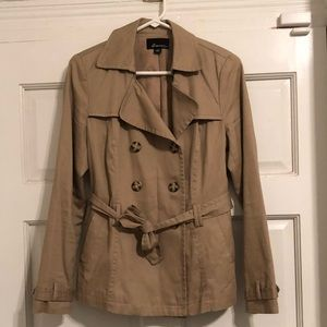 Forever 21 Dark Tan Short Trench-Style Jacket